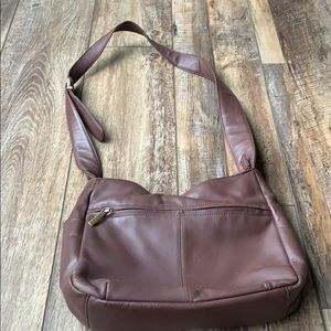 Stone Mountain brown 3 section purse bag